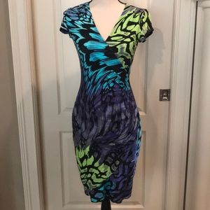 Cache stretchy ruched dress